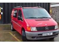 LEFT HAND DRIVE MERCEDES BENZ VITO, DRIVES PERFECTLY,ENGINE&MECHANICS VERY GOOD, BIG LOAD SPACE.CALL