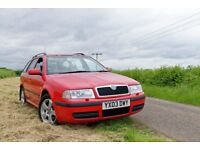 Skoda Octavia 1.8 T Elegance 4x4 - Estate, Red - LOW MILEAGE