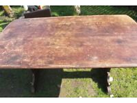 well loved Ercol dining table