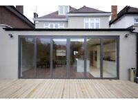 Aluminium Bifold Doors inc Glass in White, Black or Anthracite Grey