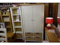 New cream and oak large larder kitchen storage cupboard £799
