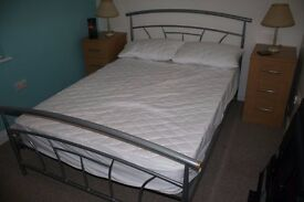 Double Bed with Mattress, excellent condition hardly used - buyer collects