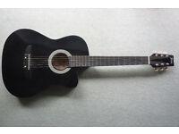 Jervis acoustic guitar - black