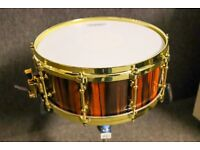 14x5.5 North Custom Snare with brass hardware