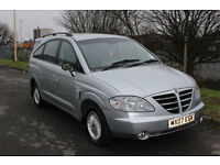 SSANGYONG RODIUS MODERN SPACIOUS RELIABLE MPV - LOW MILEAGE MERCEDES DIESEL - 7 SEATER
