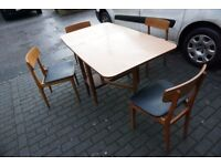 Retro 1970s Formica Topped Gate Leg Table Folding Drop Leaf Table FREE DELIVERY CENTRAL EDINBURGH