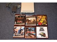 xbox 360 dvd player + 6 dvd's bundle