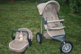 Mothercare Urban Detour Travel System 3 Wheel PRAM/PUSHCHAIR/BUGGY & CAR SEAT, collect nr Swansea Vy