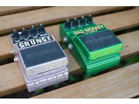 Guitar Effect Pedals - Tube Overdrive and Grunge Distortion - Digitech Grunge and Bad Monkey