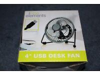 """4"""" USB Desk Fan"""