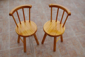 SOLID PINE CHILDREN'S CHAIRS - Excellent Condition. 2 Available. £20 EACH