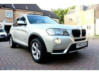 BMW X3 2.0D SE AUTOMATIC TWIN TURBO 5DR FSH HPI CLEAR 2 KEYS BRAND NEW CONDITION