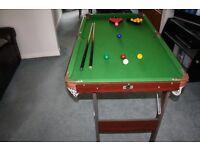 """Pot Black Folding Snooker / Pool Table 54"""" x 30"""""""
