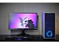 PC Desktop Workstation Music/Video EditingGaming PC windows 10 Intel Quad Core 8 Threads GTX 1060 V
