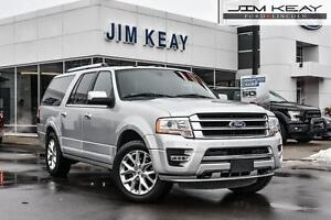 2016 Ford Expedition MAX LIMITED 4X4 W/ROOF, NAV & POWER RUNNING