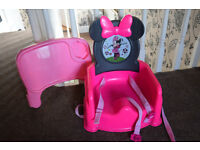 Tomy mini mouse table booster seat