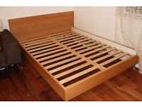 Double bed (and wardrobe and chest of drawers)