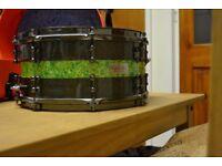 Highwood drums custom built 13x5 20 ply snare drum + hardcase