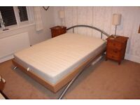 Double Ikea bed frame and mattress