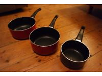 Three Dunelm Mill Sauce Pans