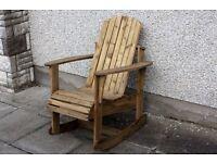Adirondack garden chair Garden rocking chairs seat furniture set bench Summer Lough view Joinery