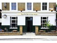Bar supervisor role available for pub in N1 London. Please feel free to look us up