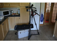 Canon XL2 Professional Video Camera with manfrotto 525MVB Tripod, remote arm control and carry cases