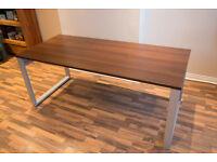Large Office Desk - Walnut Effect/Finish - Less Than Half Price !!!