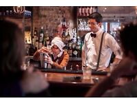 Barback needed for fantastic new opening- Central London.Great pay & service charge. CLOSES TODAY!!!