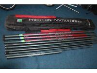 Preston Inovations GXR2001 16m Fishing Pole, 8 Top Kits , Pole Holdall, Fishing Tackle