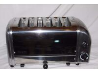 Boxed 6-slot Dualit Vario/Classic toaster. As new.