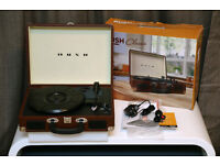 BUSH Classic Retro Turntable Record Player - Plays 33s 45s and 78s