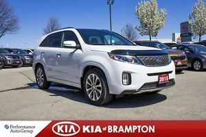 2015 Kia Sorento SX V6 AWD LEATHER NAVI PANO ROOF LOADED!!