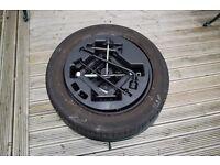 Kia picanto 09 spare wheel & inset with jack & wheel brace