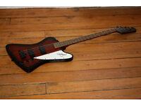 Beautiful Gibson Epiphone Thunderbird IV bass guitar with professional hardcase