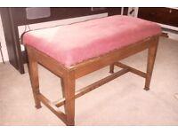 Double size piano stool