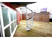 6 x 40ft Converted ex Shipping Containers- Office. Workshop. Art studio. Media. Start up Business