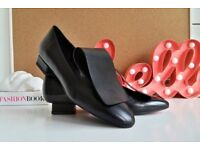 Brand New | Made in Italy | Black Leather Loafers | UK size 5 | EU size 38