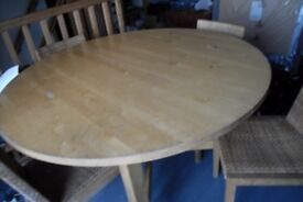 Extendable Dining Table and Chairs - reduced to 75 pounds