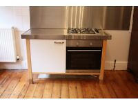 Ikea Varde Unit with Cooker and Gas Hob