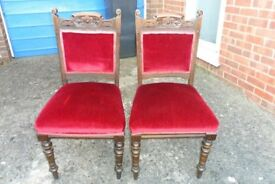 FOUR ANTIQUE STYLE CHAIRS.
