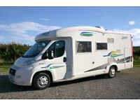Chausson Allegro 94 3 berth coachbuilt motorhome with fixed rear bed and large garage