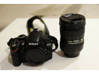 Nikon D3200 24.2MP Digital SLR + Nikon Nikkor 18-200mm f/3.5-5.6G ED VR. Excellent condition