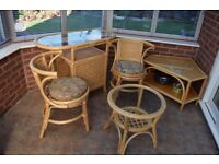 RATTAN FURNITURE SET (willing to sell individually if full set not wanted and negotiate price)