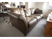 Sofa genuine brown leather