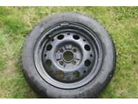 Ford spare wheel and Michelin radial tyre 185x60x14