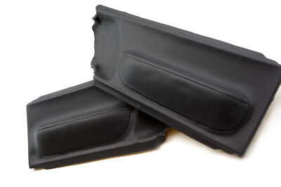 Door Panel Insert Cards Leather Synthetic for Volkswagen Beetle 98-10 Black
