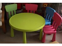 IKEA MAMMUT table and 4 chair