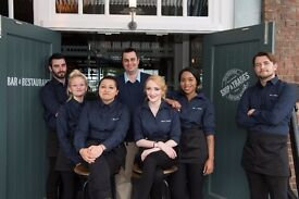 Full & Part time bar staff required at the Ship & Trades, Chatham Maritime