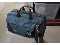 Portabrace DSLR or mini-DV camcorder carry case in blue
